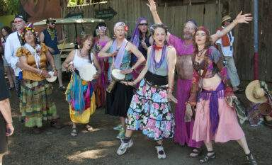 Oregon Country Fairgoers enjoying Summer in Eugene