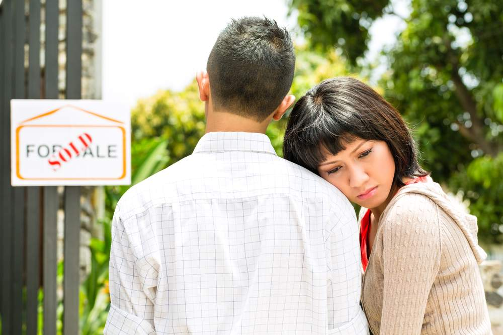 young couple too late looking at home in tight real estate market