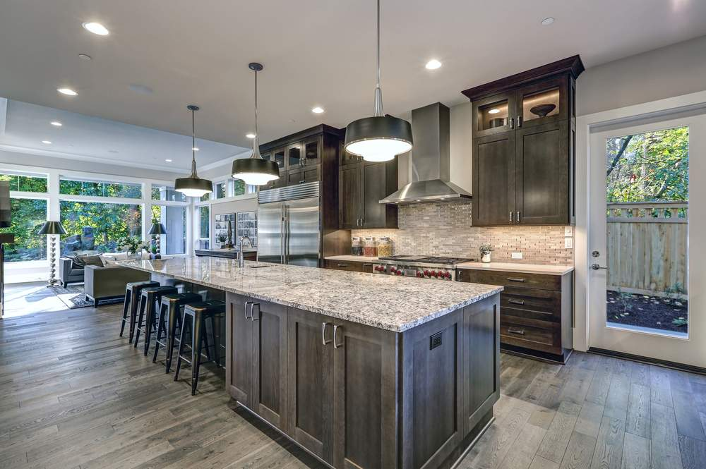 Sample modern kitchen photo for real estate listing Eugene and Bend