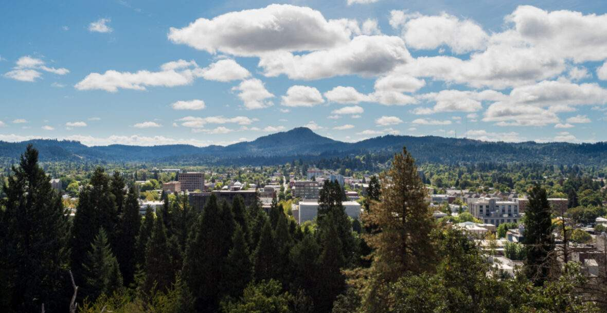 Eugene oregon skyline