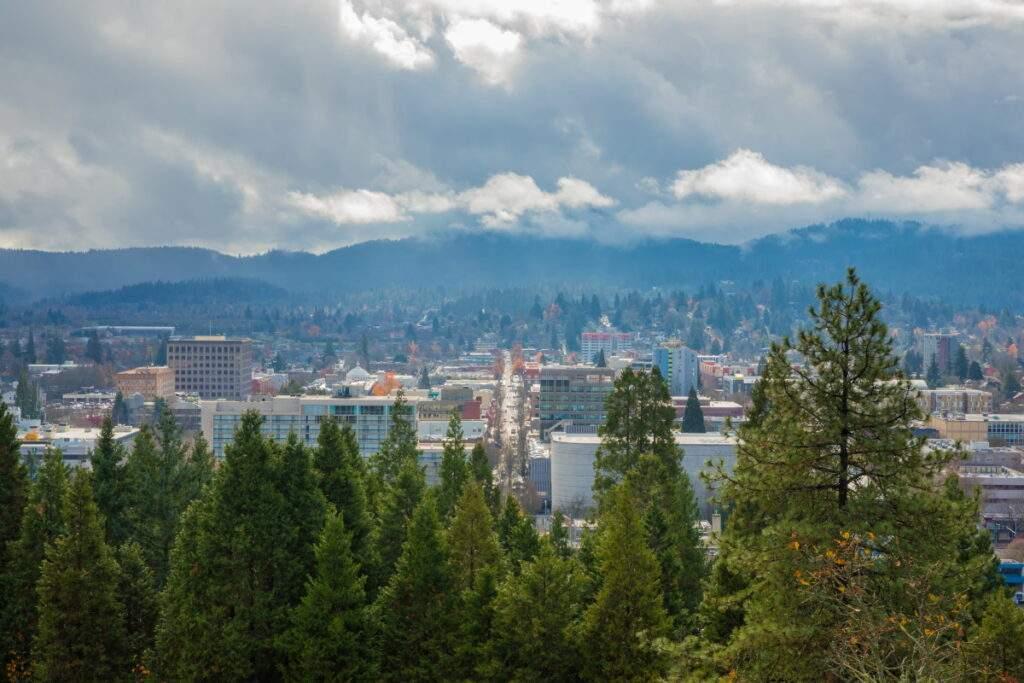 Eugene skyline as seen from Skinner's Buttte