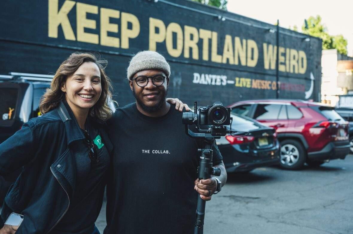 Keep Portland Weird mural at Dante's downtown.